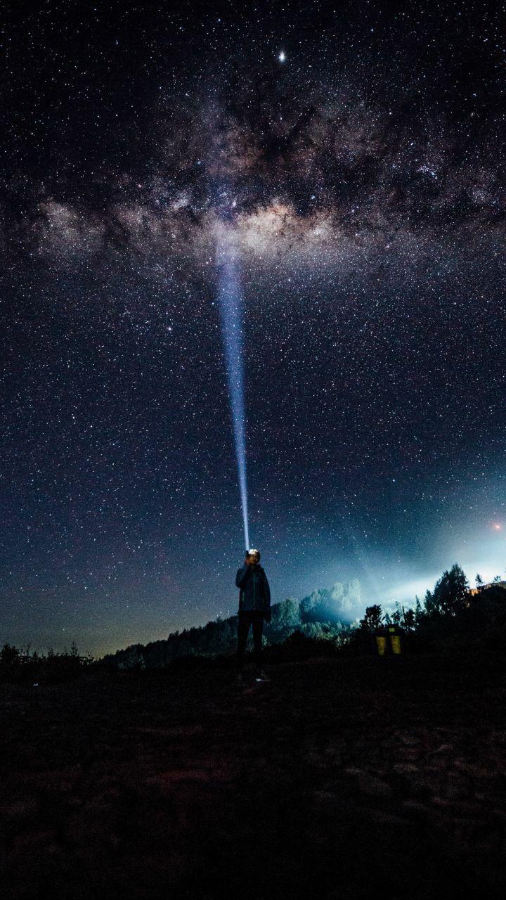 Звездное небо обои на айфон 6 023