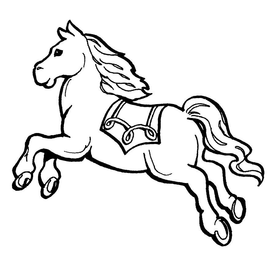 Рисунки лошадей для раскраски 005