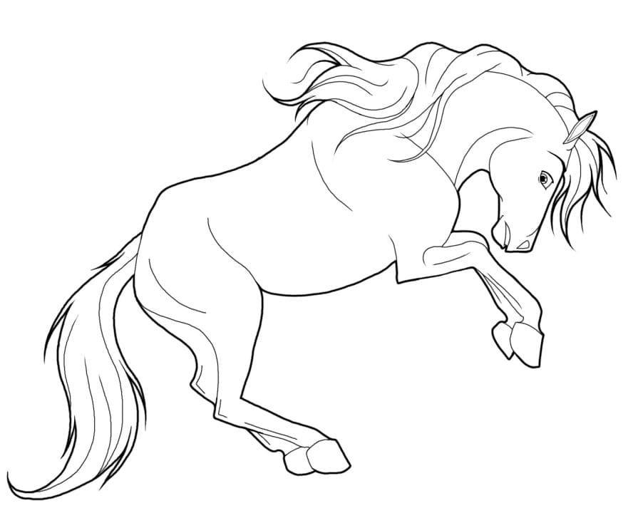 Рисунки лошадей для раскраски 006