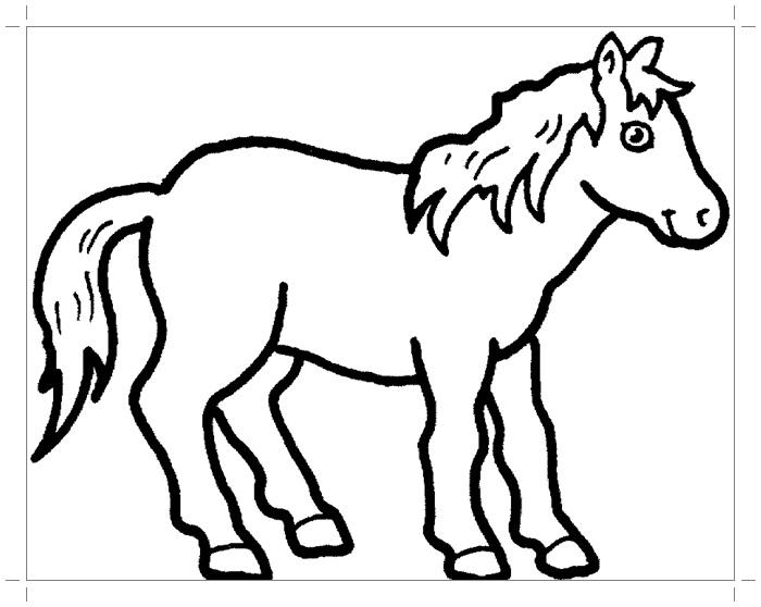 Рисунки лошадей для раскраски 007
