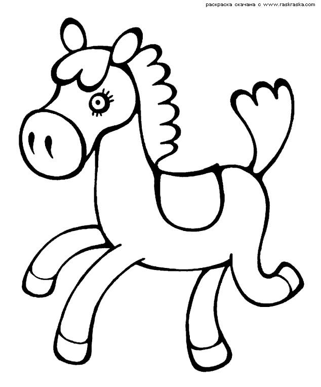 Рисунки лошадей для раскраски 009