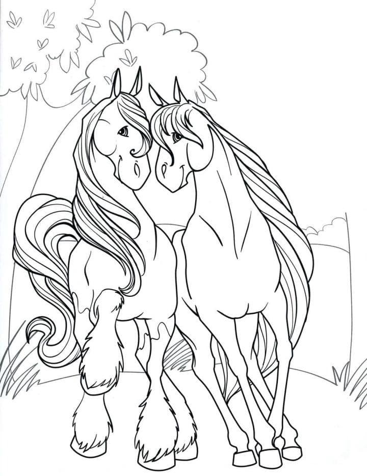 Рисунки лошадей для раскраски 013