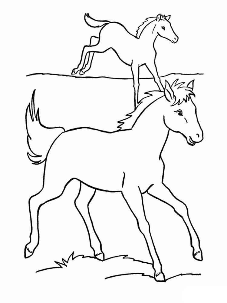 Рисунки лошадей для раскраски 018