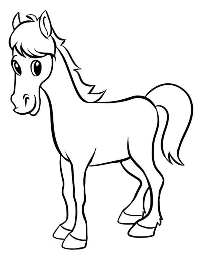 Рисунки лошадей для раскраски 021
