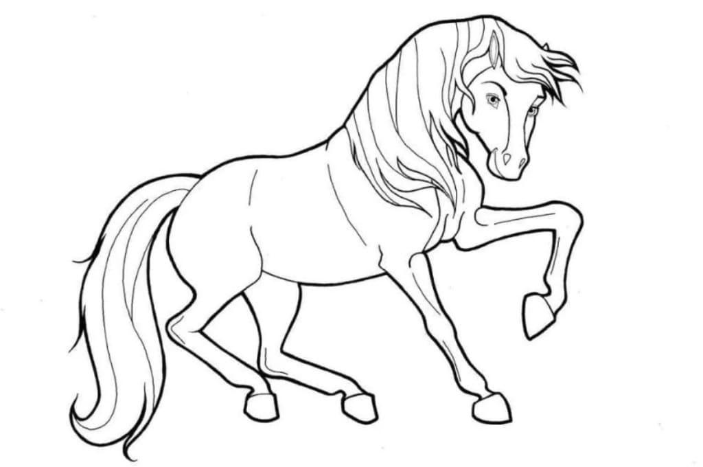 Рисунки лошадей для раскраски 022