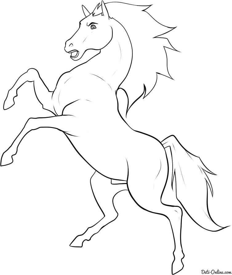 Рисунки лошадей для раскраски 023