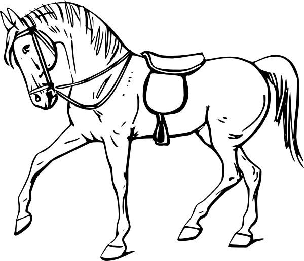 Рисунки лошадей для раскраски 026