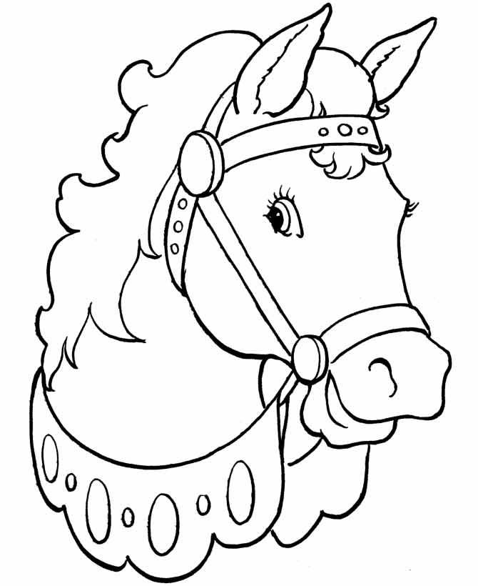 Рисунки лошадей для раскраски 027