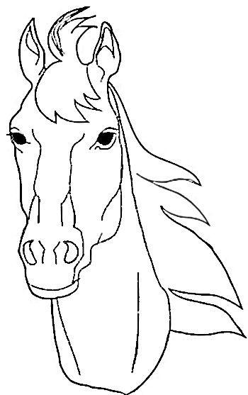 Рисунки лошадей для раскраски 028
