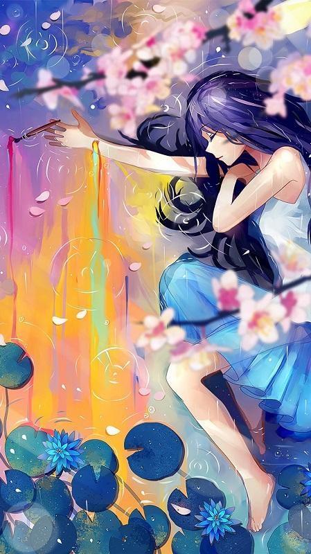 Сочные обои аниме девушек на телефон 003