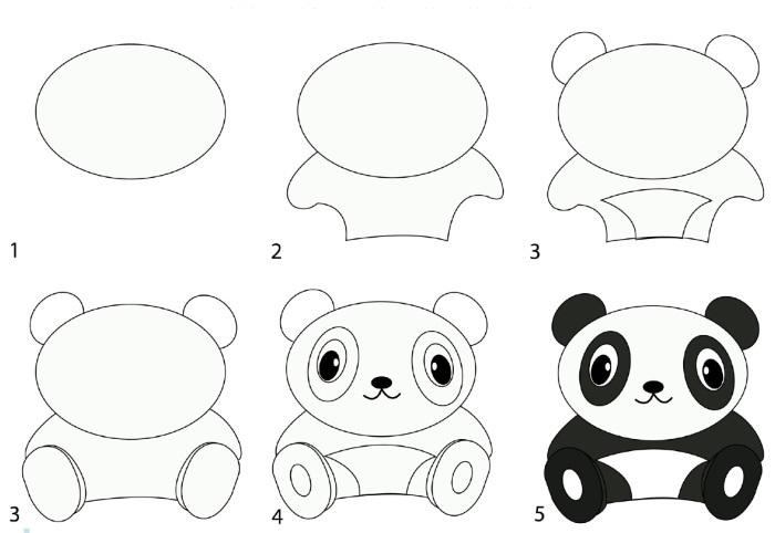 легкие рисунки карандашом для детей 8 лет 006