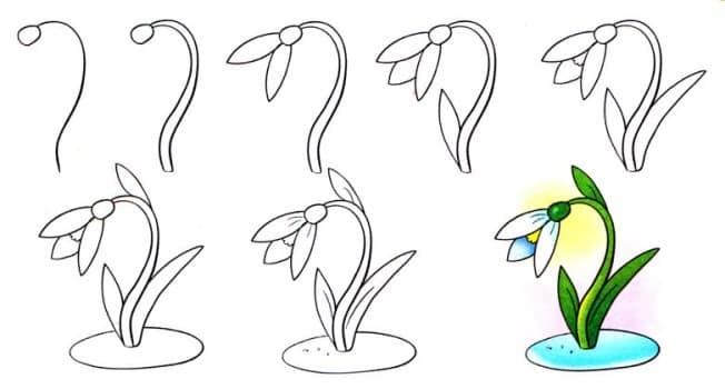 легкие рисунки карандашом для детей 8 лет 020