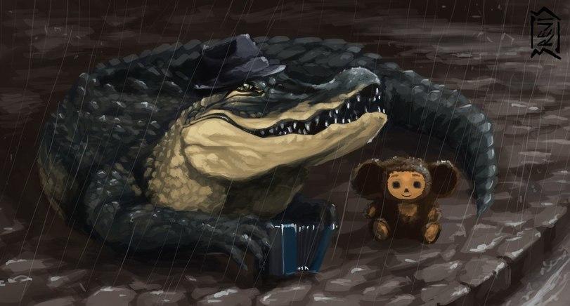 Красивые картинки крокодил Гена и Чебурашка 006