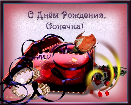 Красивые открытки с днем рождения Сонечка 002
