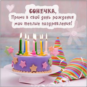 Красивые открытки с днем рождения Сонечка 011