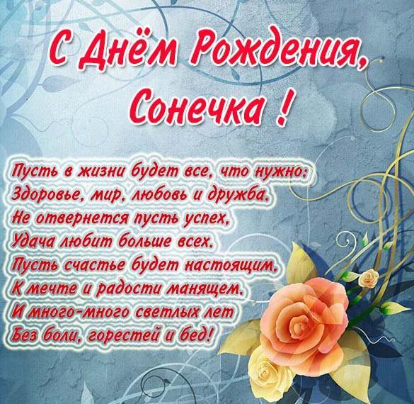 Красивые открытки с днем рождения Сонечка 022