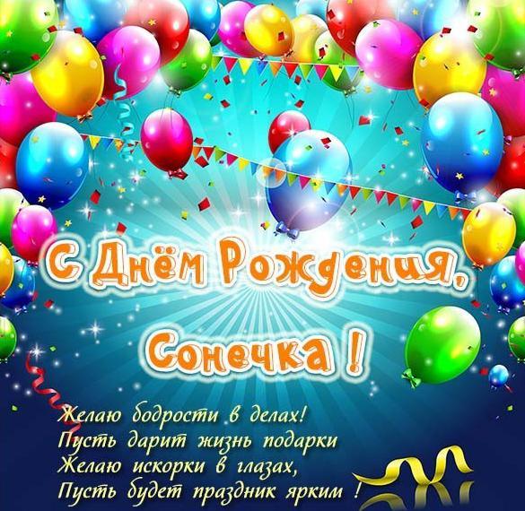 Красивые открытки с днем рождения Сонечка 023