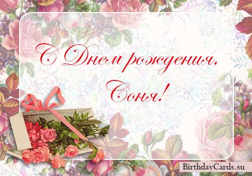 Красивые открытки с днем рождения Сонечка 026