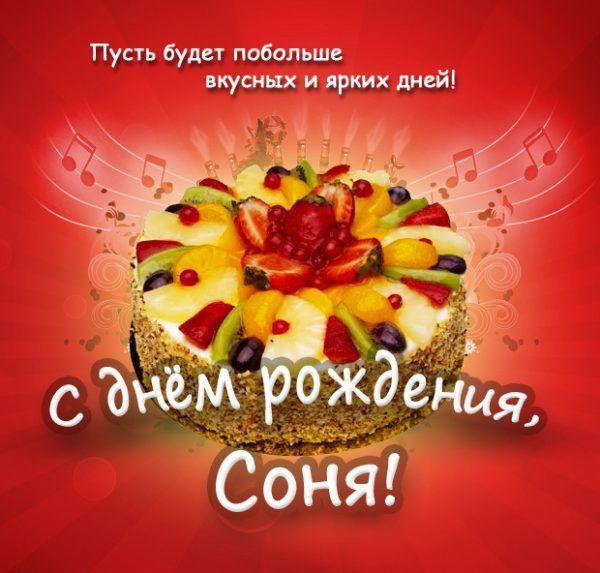 Красивые открытки с днем рождения Сонечка 028