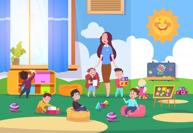 Милые фото детей в детском саду 011