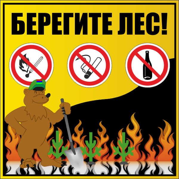 Поучительные картинки берегите лес от пожара 013