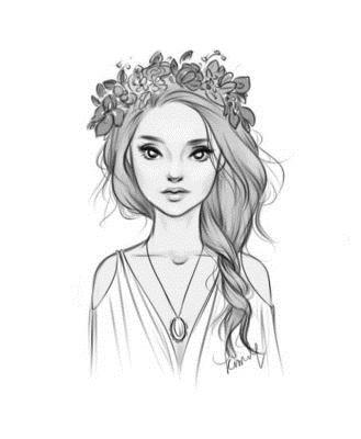 Рисунки лица девушек карандашом для срисовки 010