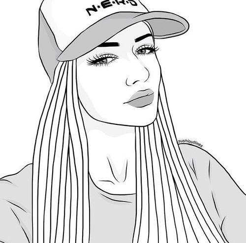 Рисунки лица девушек карандашом для срисовки 015