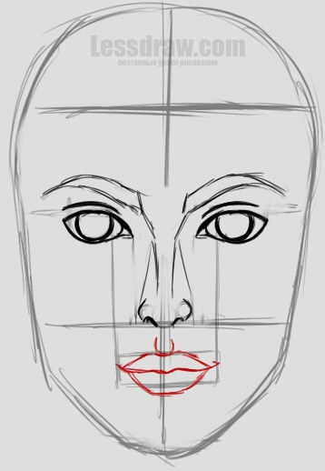 Рисунки лица девушек карандашом для срисовки 024