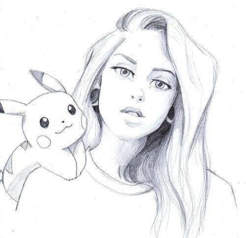 Рисунки лица девушек карандашом для срисовки 026