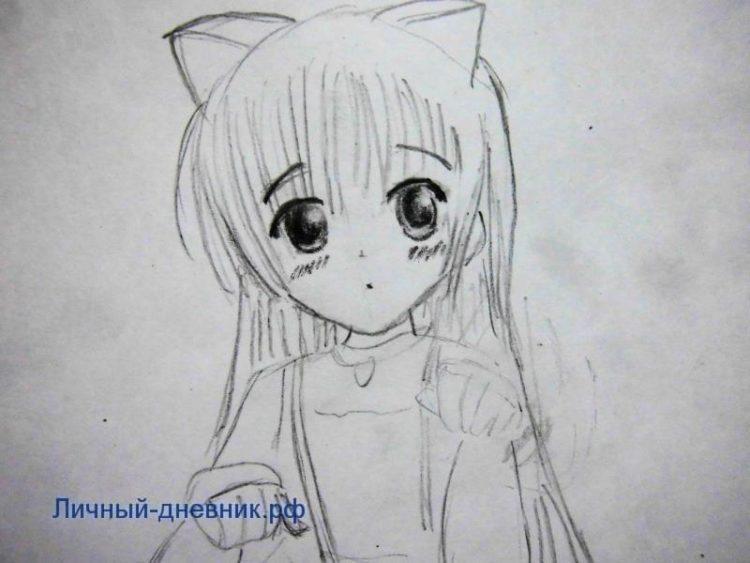 Рисунки лица девушек карандашом для срисовки 028