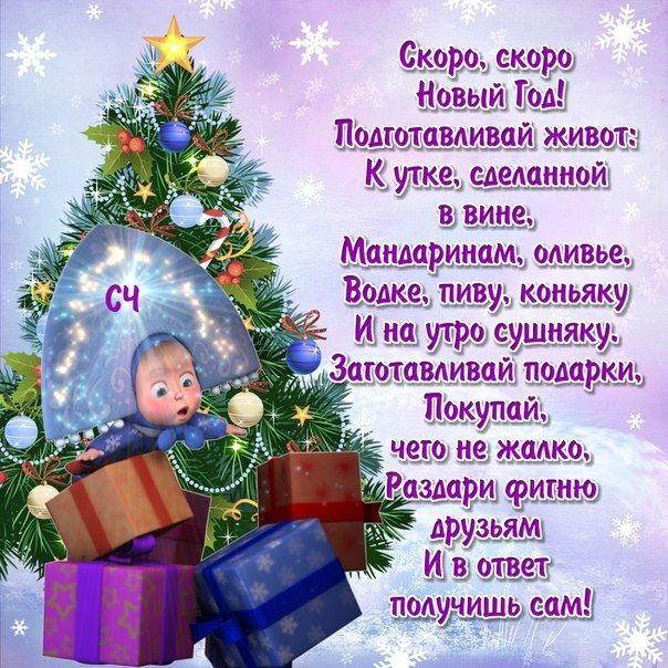 День рождение в новый год лучшие поздравления 01
