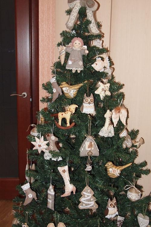 Домашние игрушки на елку своими руками в год быка 2021 07