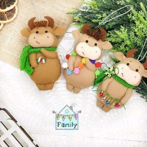 Домашние игрушки на елку своими руками в год быка 2021 19
