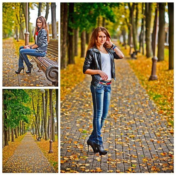 Идеи для фотосессии осенью на улице с зонтиком 05