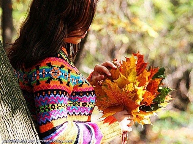 Идеи для фотосессии осенью на улице с зонтиком 09