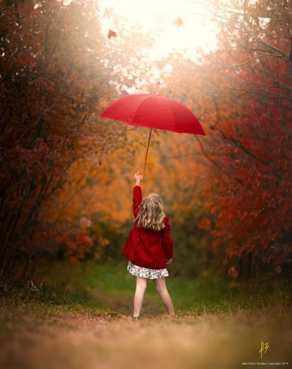 Идеи для фотосессии осенью на улице с зонтиком 22