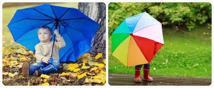 Идеи для фотосессии осенью на улице с зонтиком 23
