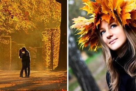Идеи для фотосессии осенью на улице с зонтиком 26
