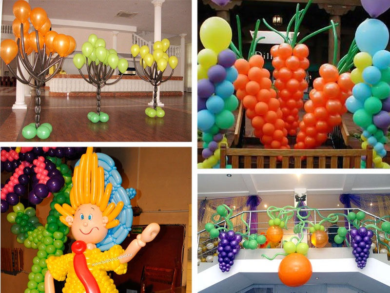 Идея осень украшение зала в детском саду 01