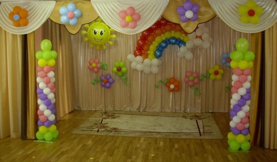 Идея осень украшение зала в детском саду 05