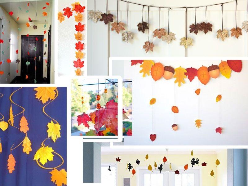 Идея осень украшение зала в детском саду 08