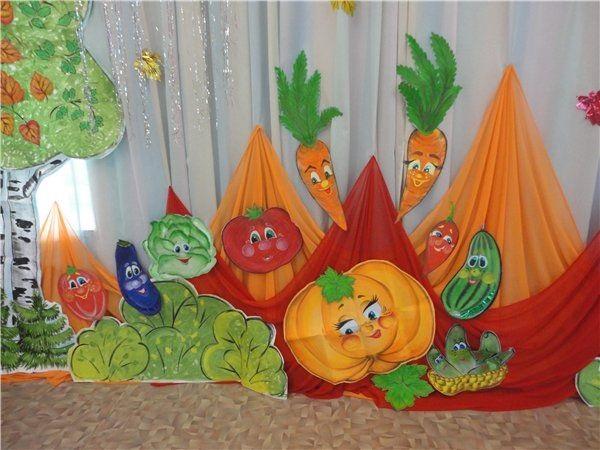 Идея осень украшение зала в детском саду 12