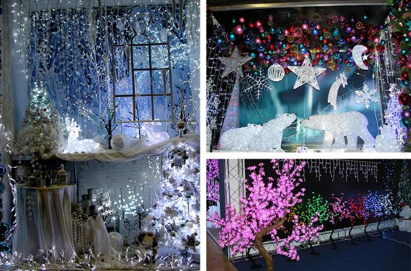 Идея украшение зала в детском саду в новый год 09