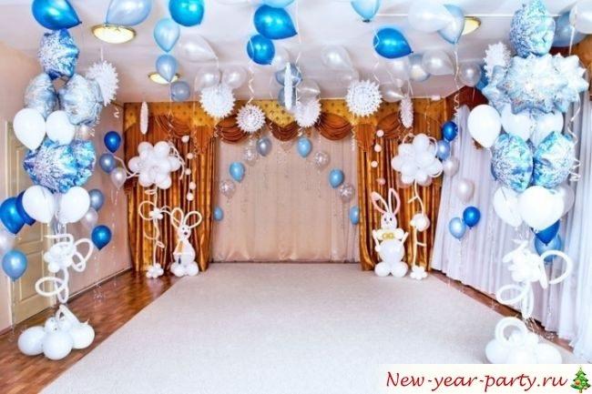 Идея украшение зала в детском саду в новый год 11