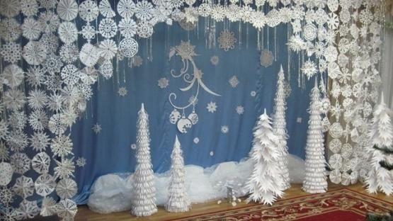 Идея украшение зала в детском саду в новый год 13