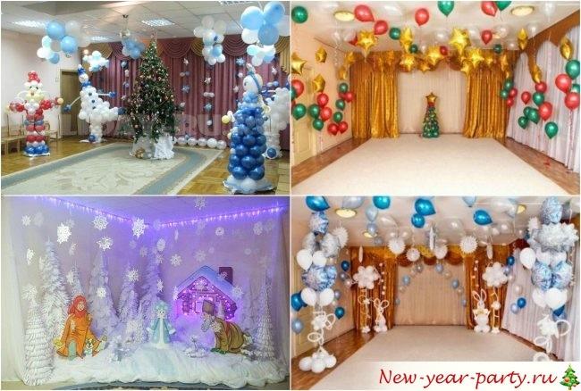 Идея украшение зала в детском саду в новый год 22