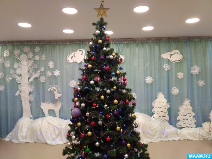 Идея украшение зала в детском саду в новый год 23