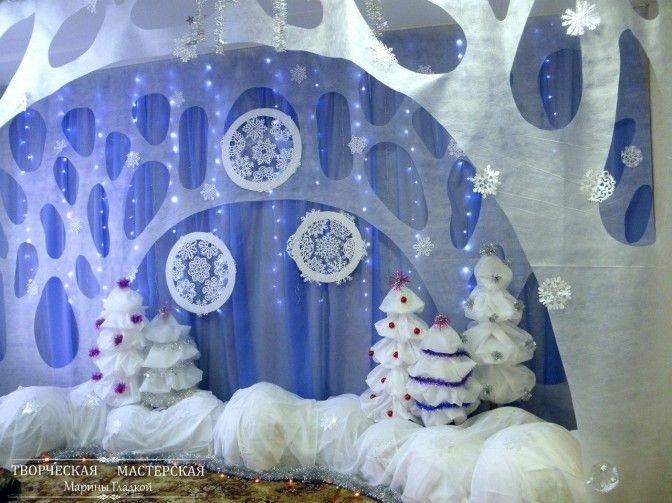 Идея украшение зала в детском саду в новый год 25
