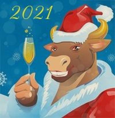 Картинка на год быка новый год 01