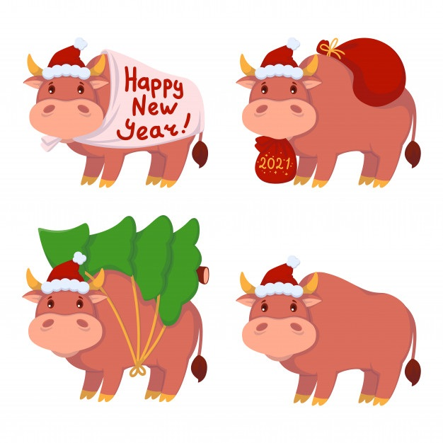 Картинка на год быка новый год 07